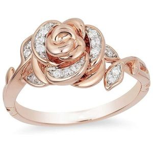Beauty and the Beast Enchanted Rose Ring
